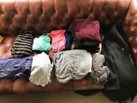 Lots of maternity clothes. Mainly size small