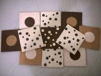 WALL ART SQUARES - CIRCLES & BUBBLES