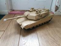 New Tamiya 1/16 RC US M1A2 Abrams Tank. Full Option Kit. Sounds. Rc Tank, used for sale  Leicester, Leicestershire