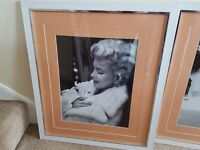 Marylin monroe/ audrey large framed prints pictures