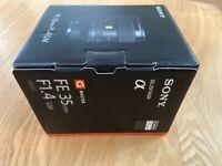 Sony E mount 35mm 1.4 GM