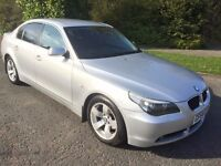 BMW 525 TDI SE 54 REG NEW SHAPE IN SILVER WITH GREY TRIM,SERVICE FISTORY AND MOT NOV, 07867955762