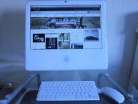 """APPLE iMac 17"""" core 2 Duo 160GB HD + 2GB RAM A1195 Mac Wi-Fi"""
