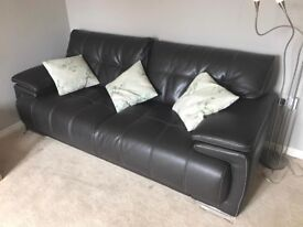 Brown Leather SCS 3 Seater Sofa Endurance Leather