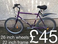 gents Mountain Bikes £30 - £110 mountain bike cycle commuter student mtb full working order
