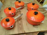 Set of 5 le creuset pans