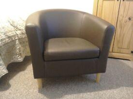 Brand New Faux Tub Chair