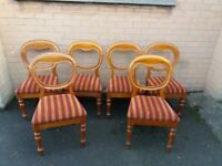 set of 6 victorian mahogany ballon back chairs