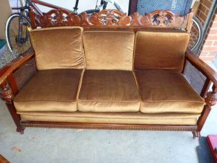 Jacobean 3 seater lounge and 2 single armchairs Coromandel East Morphett Vale Area Preview