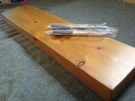 Chunky Pine Floating Shelf Inc.Hidden Brackets