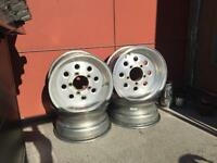 15x7 Weld Racing Draglite wheels 5x5.5 Ford