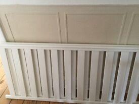 John Lewis Rachel white cotbed / junior bed