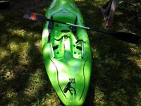 Kayak white water sit on top Perception Torrent with Paddle