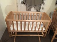 Mothercare crib with matress