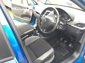 BLUE PEUGEOT 207 (2007) 1.4L. Great condition and low mileage for age