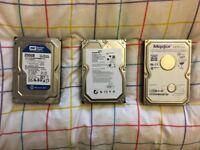 1 TB, 250 GB & 200 GB Internal SATA Hard Drives