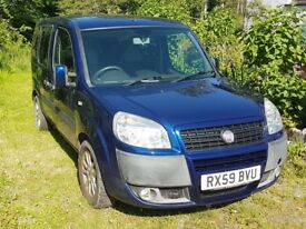 Fiat Doblo Wheelchair access vehicle, high roof, rear ramp, 4 seater, internal winch, MOT to end Dec