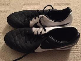 Men's Nike Tiempo AstroTurf football boots. And River island men's plimsoles. Both UK 11 worn once