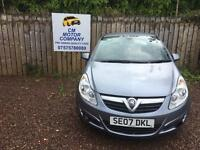 2007 VAUXHALL CORSA 1.2 DESIGN 1 YEAR MOT! HALF LEATHER INTERIOR!