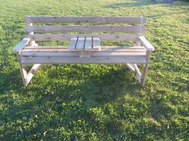 Wooden Bench Garden furniture Seat with table