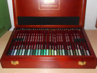 Art Derwent Pastel pencils Brand new in wooden box