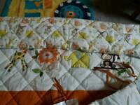 Cot bed quilt and bumper