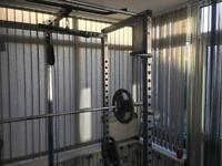 Power rack bench and weights