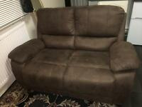 Brown swade 2seater sofer OFFER