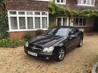 Mercedes CLK convertible, 3.2 petrol, AUTO, FSH, Black n red leather, Sat Nav
