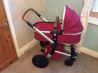 Joolz Day Earth Pram, with stroller, carrycot and extras.