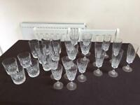 26 piece assumed crystal dining glasses (see description for details)