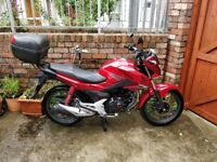 18 Month old Red Honda CB125F with hand warmers - 1400 miles