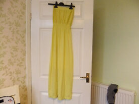 Yellow Strapless Dress age 13 Years