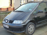 Seat Alhambra Reference TDi 1896 Diesel 2005, MOT April 2017, seven seater, £825 ono
