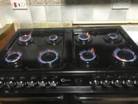 BARGAIN FLAVEL ASPEN 100 RANGE DUAL FUEL WITH COOKER HOOD EXCELLENT CONDITION
