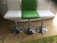 3 bar stools for kitchen