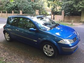 Renault Megane, 1.6 , petrol, 1 year MOT, FSH, Cambelt change