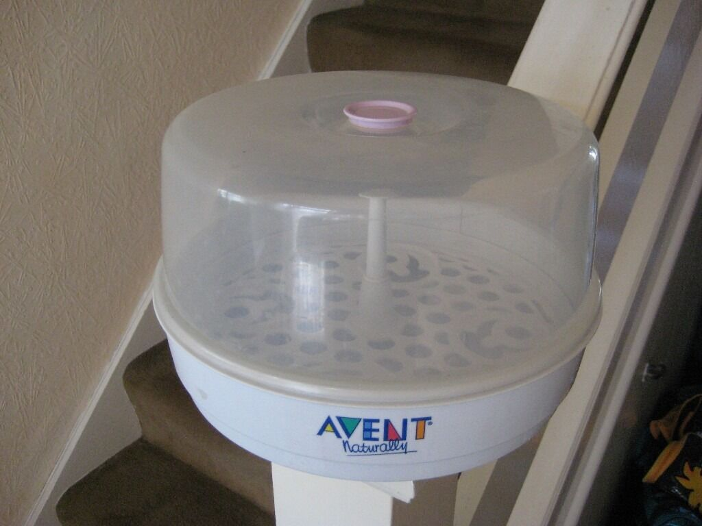 Avent Microwave Bottle Steriliserin Lewisham, LondonGumtree - Avent Microwave Bottle Steriliser In very good condition, clean and ready to use This steriliser is compact, lightweight and convenient for travel Fits most microwaves and is easy to use; add water and place it in the microwave Holds 4 avent bottles...