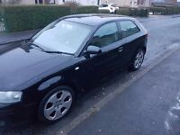 Audi a3 3.2 quattro manual 55 plate motd may 17 black in coulour £800 no offers