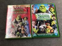 2 x Shrek DVDs