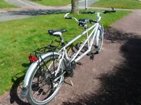 """Tandem cycle Orbit Routier 20"""" front 16"""" Back Frame 24 speed with front and rear carriers"""