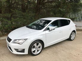 2013 Seat Leon FR 2.0 Tdi *Pearl White 5 door* £20 a year Road tax!