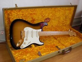 50th Anniversary American Duluxe Strat w/ embroidered 50th Anniversary case and authenticy paperwork