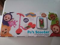 TELETUBBIES PO'S SCOOTER NEW IN BOX £18