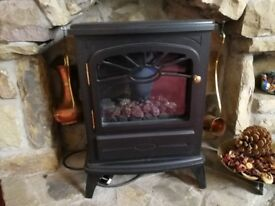 Flame effect electric heater