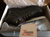 Size 9 Dark Brown Safety Boots