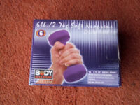 'BODY SCULPTURE' DUMBELLS - 2 at 3lb each. Brand New in box