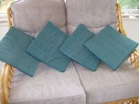 Set of 4 patio chair seat cushions