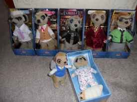 Compare The Market Family collection set of 7 Meerkat Toys