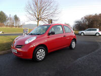 NISSAN MICRA 1.0 E HATCHBACK 3 DOOR RED NEW SHAPE 2003 FULL MOT BARGAIN ONLY £550 *LOOK* PX/DELIVERY